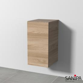 Sanipa 3way add-on unit with 1 door front elm natural touch/corpus elm natural touch, with tip-on technology