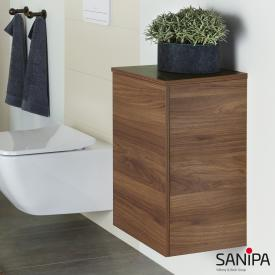 Sanipa 3way add-on unit with 1 door front cherry natural touch/corpus cherry natural touch, with tip-on technology