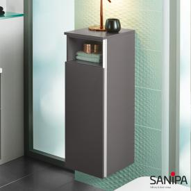 Sanipa 3way medium unit with 1 door and 1 open compartment front stone grey/corpus stone grey