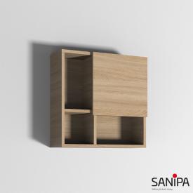 Sanipa 3way reversible cube cabinet front impresso elm/corpus impresso elm,