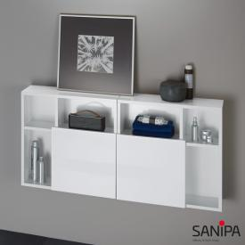 Sanipa 3way reversible cube cabinet front white gloss/corpus white gloss