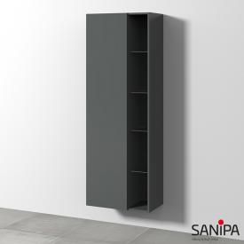 Sanipa 3way tall unit with 1 door and side rack front matt anthracite/corpus matt anthracite, with tip-on technology