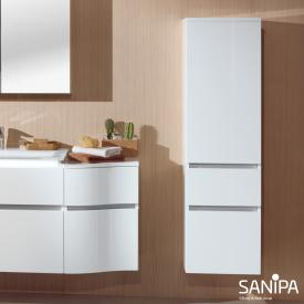 Sanipa CantoBay medium unit with 1 door and 2 drawers front white gloss / corpus white gloss