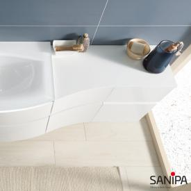 Sanipa CurveBay large top cover for curved add-on unit white gloss