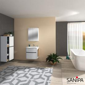 Sanipa Reflection MALTE mirror cabinet with LED lighting white gloss