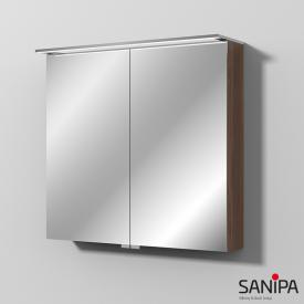 Sanipa Reflection MALTE mirror cabinet with LED lighting cherry natural touch