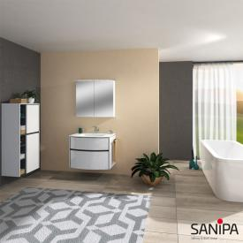 Sanipa Reflection mirror cabinet with LED lighting white gloss