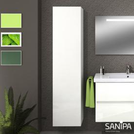 Sanipa Solo One Euphoria/Harmonia tall unit with 1 door front white gloss / corpus white gloss