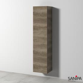Sanipa Solo One Euphoria/Harmonia tall unit with 1 door front nebraska oak / corpus nebraska oak