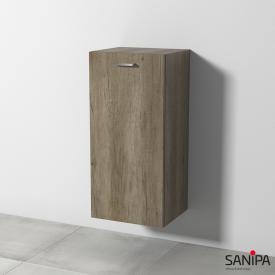 Sanipa Solo One Round medium unit with 1 door front nebraska oak / corpus nebraska oak