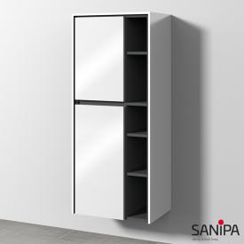 Sanipa TwigaGlas storage cupboard with 2 doors front white gloss / corpus white gloss