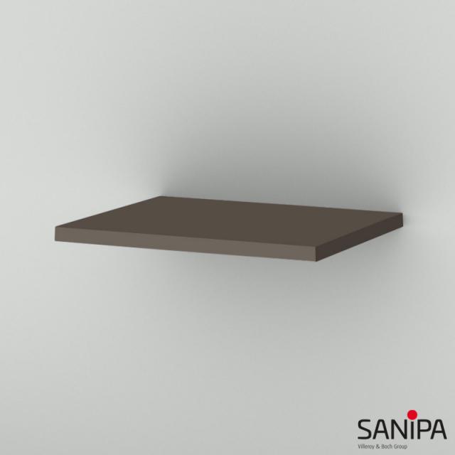 Sanipa CantoBay top cover for side unit matt terra