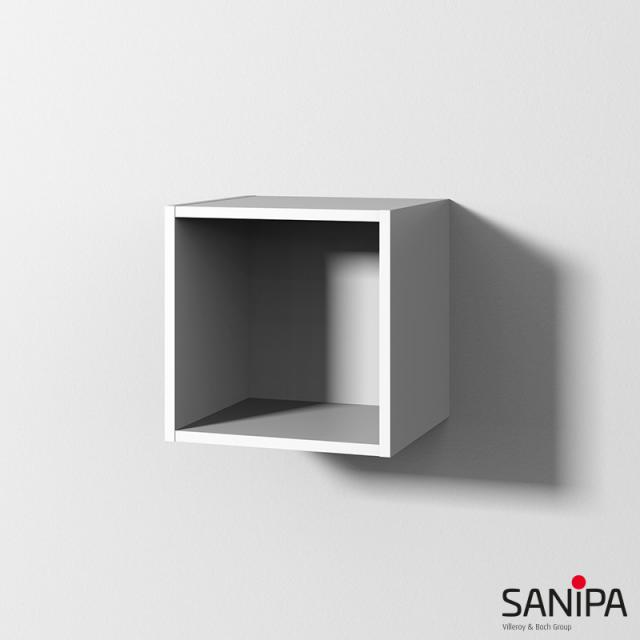 Sanipa Cubes rack module with 1 compartment soft white