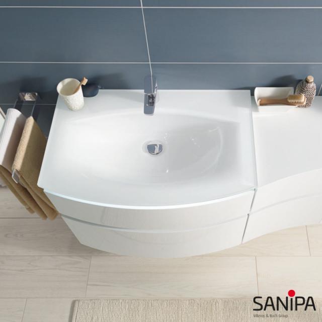 Sanipa CurveBay glass washbasin