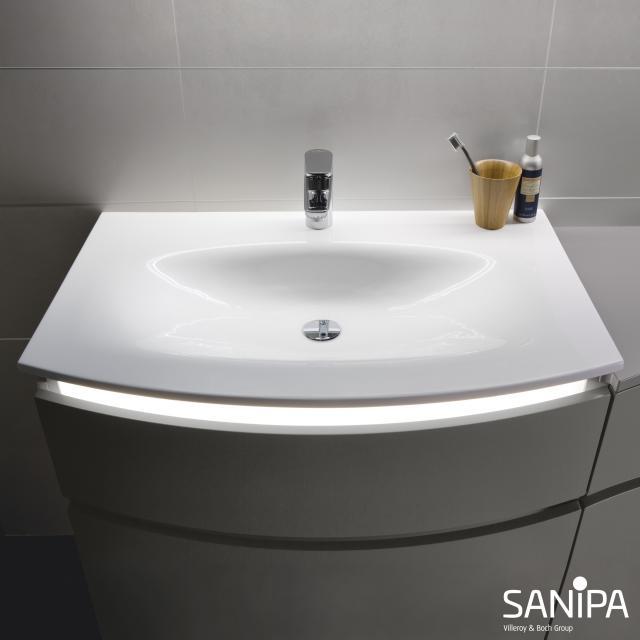Sanipa CurveBay mineral cast washbasin