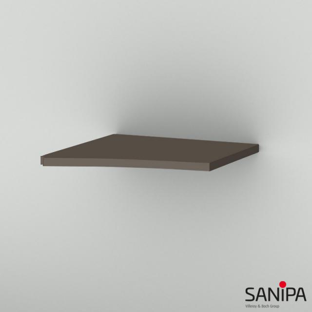 Sanipa CurveBay top cover for curved add-on unit matt terra