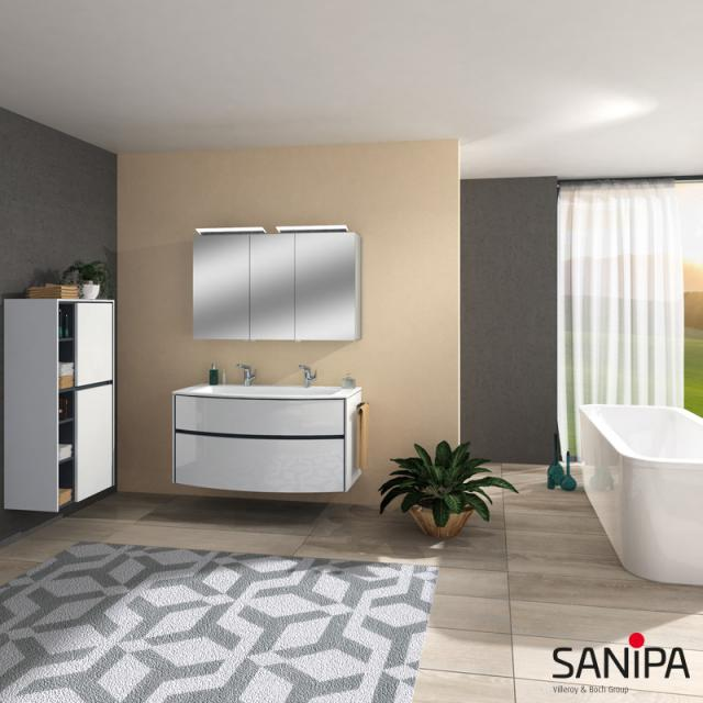 Sanipa Reflection ALVA mirror cabinet with LED lighting
