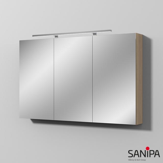 Sanipa Reflection MILLA mirror cabinet with LED lighting impresso elm