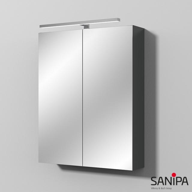 Sanipa Reflection MILLA mirror cabinet with LED lighting matt anthracite