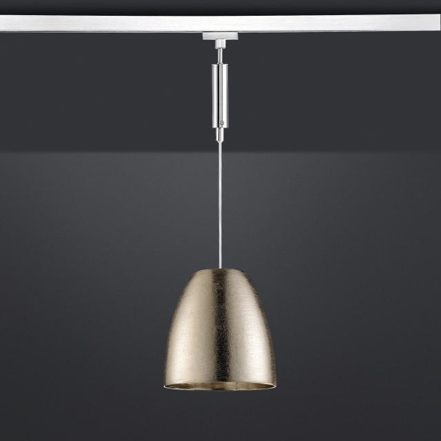 FISCHER & HONSEL pendant light with shade for HV-Track 4 systems