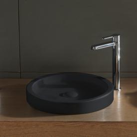 Scarabeo Bucket countertop washbasin matt black, with BIO system coating