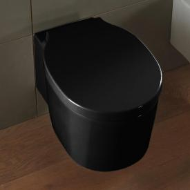 Scarabeo Bucket wall-mounted washdown toilet, rimless black