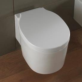 Scarabeo Bucket wall-mounted washdown toilet with flush rim, white