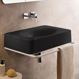 Scarabeo Fuji countertop or wall-mounted washbasin black, without tap hole