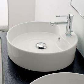 Scarabeo Geo R countertop washbasin white, with BIO system coating
