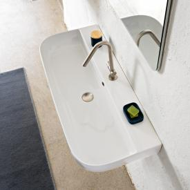 Scarabeo Glam countertop or wall-mounted washbasin white, with BIO system coating