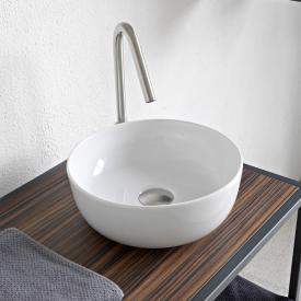 Scarabeo Glam countertop washbasin white, with BIO system coating
