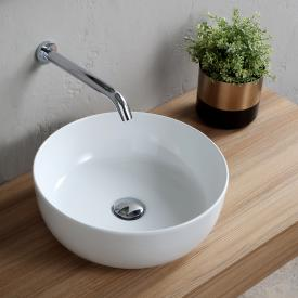 Scarabeo Glam countertop washbasin white, with BIO System