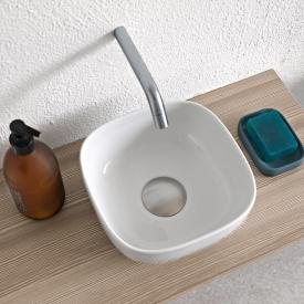 Scarabeo Glam countertop washbasin white, with BIO system coating