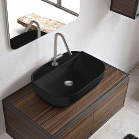 Scarabeo Glam countertop washbasin black, with BIO system coating