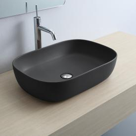 Scarabeo Glam countertop washbasin matt black, with BIO system coating