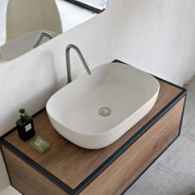 Scarabeo Glam countertop washbasin matt white, with BIO system coating