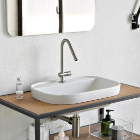 Scarabeo Glam drop-in washbasin white, with BIO System