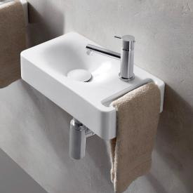 Scarabeo Hung wall-mounted washbasin white, with BIO system coating