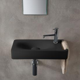 Scarabeo Hung wall-mounted washbasin matt black, with BIO system coating