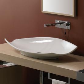 Scarabeo Kong countertop washbasin white, with BIO system coating