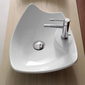 Scarabeo Kong R countertop washbasin white, with BIO system coating