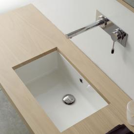 Scarabeo Miky undercounter washbasin white, with overflow