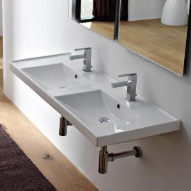 Scarabeo ML drop-in or wall-mounted double washbasin white