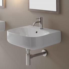 Scarabeo Moon countertop or wall-mounted washbasin white, with BIO system coating