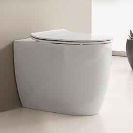 Scarabeo Moon floorstanding washdown toilet without flushing rim, white, with BIO system coating