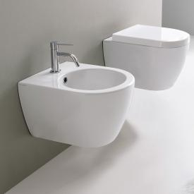 Scarabeo Moon wall-mounted bidet, short version white