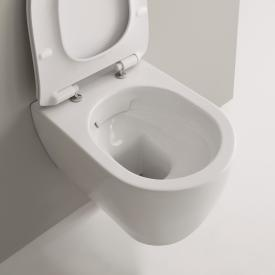 Scarabeo Moon wall-mounted washdown toilet, rimless white