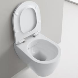 Scarabeo Moon wall-mounted, washdown toilet with toilet seat, rimless white