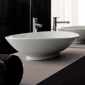 Scarabeo Neck countertop washbasin white, with BIO system coating