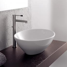 Scarabeo Ovo countertop washbasin white, with BIO system coating